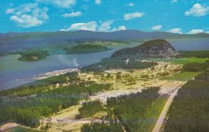 Canada Aerial View Fraser Lake British Columbia