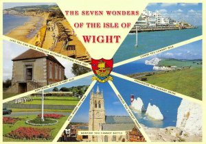NEW The Seven Wonders of the Isle of Wight Multi View Postcard, 7 Views CG9