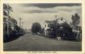 Madison CT East Wharf Road Postcard