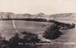 North Dakota Bad Lands Scenic View Real Photo RPPC