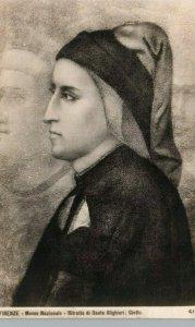 Florence Italy Bargello Museum Dante Alighieri Portait Giotto Vintage Postcard