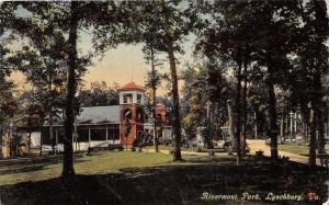 C77/ Lynchburg Virginia Va Postcard 1910 Rivermont Park Scene Casino 2