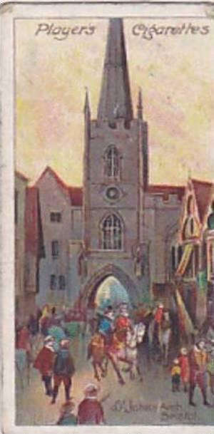 Player Vintage Cigarette Card Celebrated Gateways 1909 No 21 St Johns Arch Br...