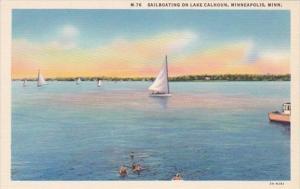 Minnesota Minneapolis Sailboating On Lake Calhoun