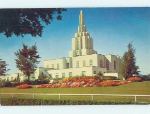 Unused Pre-1980 MORMON TEMPLE CHURCH SCENE Idaho Falls Idaho ID L3882