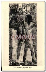 Old Postcard Tomb of Seti Egypt