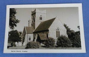 Vintage Real Photo Postcard Parish Church Pleshey Essex B1B