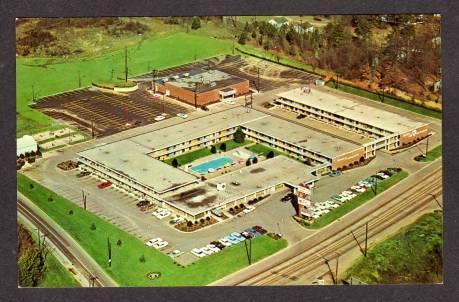 NC Heart of Charlotte Motor Inn Motel North Carolina Postcard