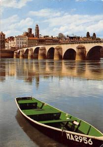 France Macon la Saone et le Pont de St Laurent Boat Bridge