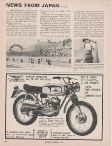 Guazzoni Motorcycle 1966 Print Ad, Superb Handling On or Off the Road
