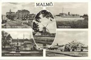 RP: 5-view postcard, Malmo, Sweden, 40-50s