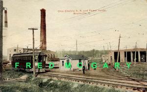 1913 Brookville PC: Ohio Electric RR, Power House, Car Barn & Interurban