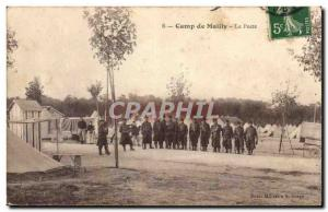 Old Postcard Militaria Mailly the Camp The post