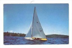 Sailing on a lake, Indiana, 40-60s