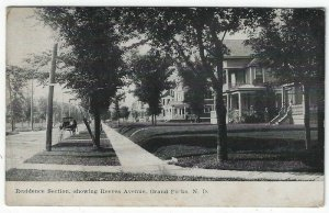 Grand Forks, North Dakota, Early Postcard View of Reeves Avenue, 1908