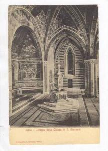 Siena, Italy, 00-10s Interno della Chiesa di S. Giovanni