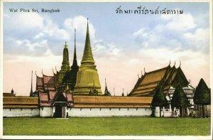siam thailand, BANGKOK, Wat Phra Sri (1930s) Postcard
