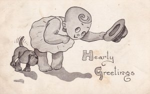 Hearty Greetings Cavally Kids Series 1913 to Centerville KS Postcard B34