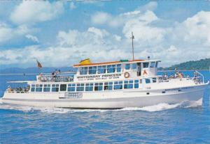 TSMV Whitsunday Princess Cruise Ship at Sea, Hayman Island, Great Barrier Ree...
