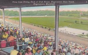 Maryland Hagerstown View From Dining Deck OF Club House Hagerstown Race Track
