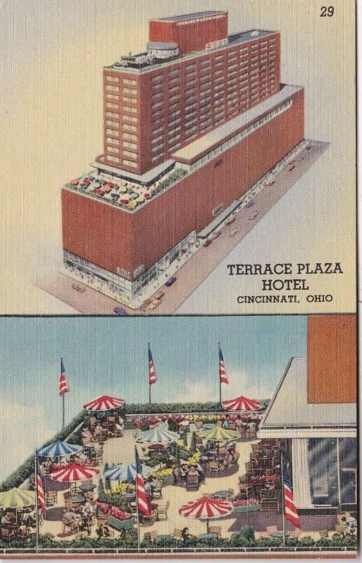 Ohio Cincinnati Terrace Plaza Hotel Terrace Roof Garden 1941 Curteich sk5110