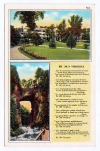 RARE 1915-1930 The Natural Bridge In Old VA Cedar Creek Rockbridge County Poem