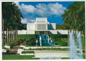 Hawaii, HI.  Church of Jesus Christ Of Latter Day Saints Temple Postcard