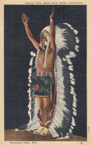 WISCONSIN DELLS, Wisconsin, 30-40s; Sunrise Call, Stand Rock Indian Ceremonial
