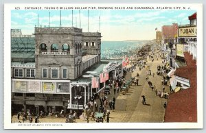 Atlantic City NJ~Million Dollar Pier Entrance~Strickland~Posters~Yuban~1920s