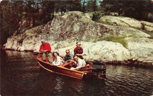 F53/ Kelleys Island Ohio Postcard 1958 Wood Boat Lake Erie Fishing