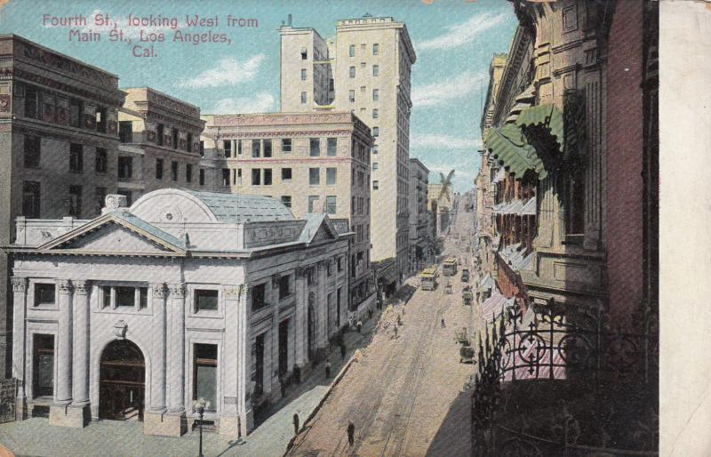 LOS ANGELES, California, 00-10s; Fourth St., looking West from Main St.