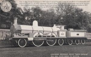 LNWR Compound Passenger Engine Queen Empress Train Old Postcard