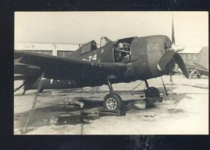 WWII FIGHTER PLANE AIRPLANE AVIATION VINTAGE MILITARY REAL PHOTO POSTCARD