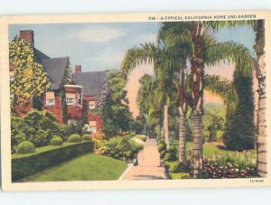 Linen TYPICAL HOME Postmarked Los Angeles California CA HM9979
