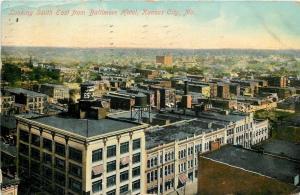 Kansas City Missouri~Birdseye Looking South East from Baltimore Hotel~1909