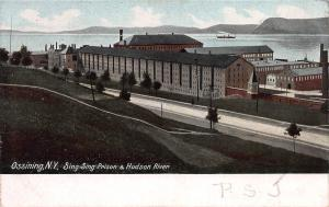 Sing Sing Prison & Hudson River, Ossining, New York,  Early Postcard