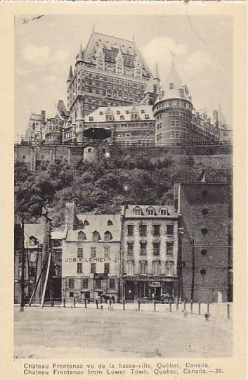 Chateau Frontenac from Lower Town, Quebec, Canada, 00-10s