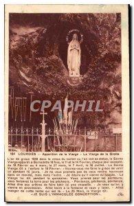 Old Postcard Lourdes apparation of the Virgin Virgin of the Grotto