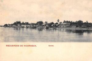 Corinto Nicaragua Water Front Scenic View Antique Postcard J59535