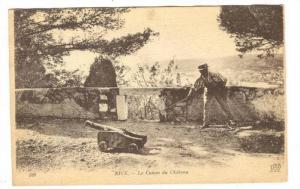 NICE, Le Canon du Chateau, Alpes Maritime, France, 10-20s