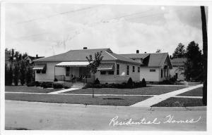 F24/ Ricketts Iowa Real Photo RPPC Postcard 1951 Residential Homes