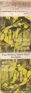 New York Writing School Matchbox Old Label