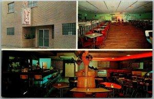 Pensacola, Florida Postcard ABE'S 506 CLUB Star Dust Room Bar Nightclub c1960s