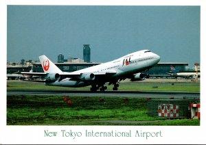 Japan Air Lines Boeing 747 At New Tokyo International Airport