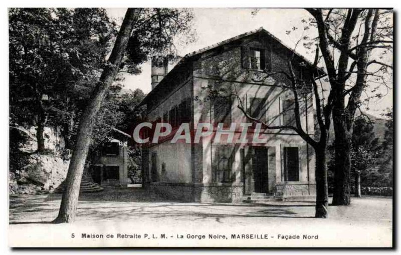 Old Postcard Retirement home PLM Black throat Marseille North Facade