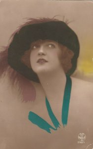 RP: Woman with hat, 00-10s ; Hand Tinted