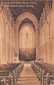 Interior of St John's Church Colaba India Unused