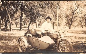Harley Davidson Real Photo writing on back