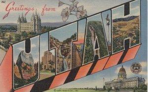 Large Letter Greetings , UTAH , 30-40s