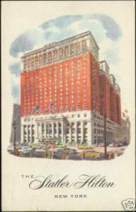 New York, The Stratler Hilton Hotel (1958)